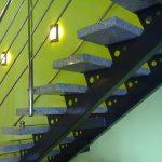 nowoczesne schody z metalu