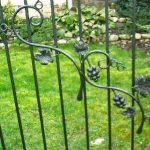 ogrodzenie metalowe mtyw kwiatowy