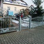 ogrodzenie metalowe bramka i brama