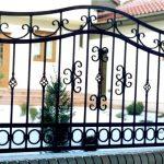 metalowe ogrodzenie