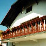 balustrada tarasu na piętrze
