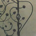 florale Motive aus Metall